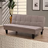 HOMEBOX Sherry 3-Seater Tufted Sofa Bed, Brown - H89 x W89.5 x L132 cm
