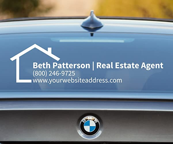 Real estate decal real estate car decal real estate agent broker decal