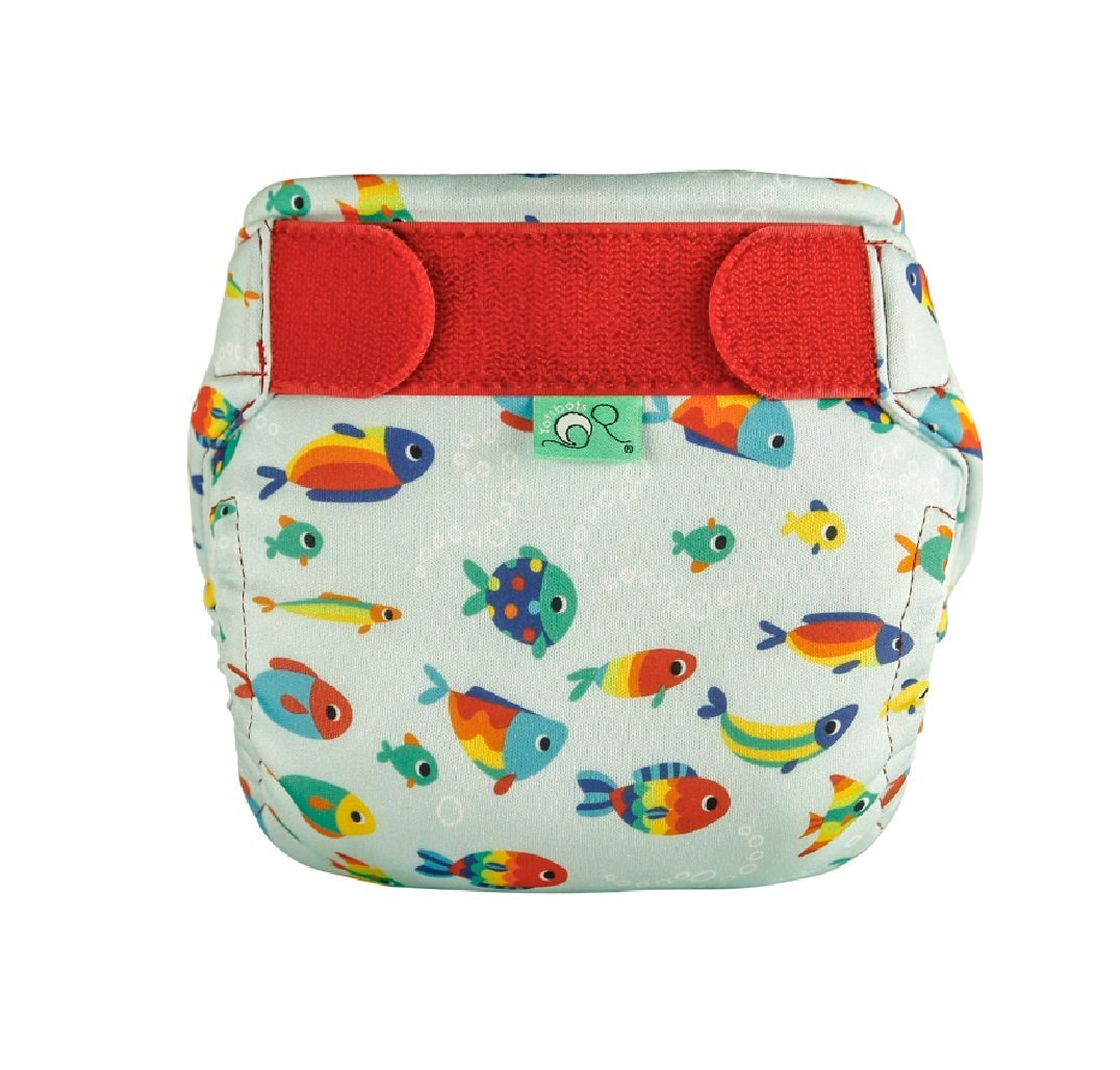 10-20 lbb TotsBots Swims Tiddlers Design Reusable Washable Swimming Nappy in size 1