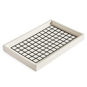 Now House by Jonathan Adler Grid Decorative Tray, Black and White