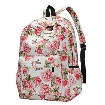 School Bags For Girls, Brezeh Womens Girls Stylish Floral Backpack Daypacks  Lightweight Casual School Bookbags 57149a0a46