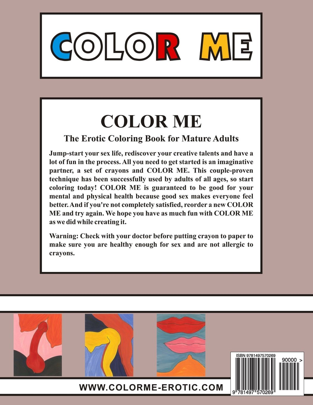 Amazon.com: Color Me: The Erotic Coloring Book (9781497570269 ...