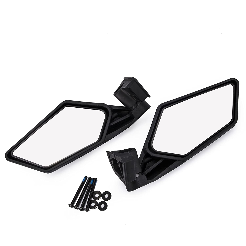 Ocamo 2 Pcs UTV Heavy Duty Rear View Mirror for UTV Polaris RZR Can Am Maverick X3 2017 2018