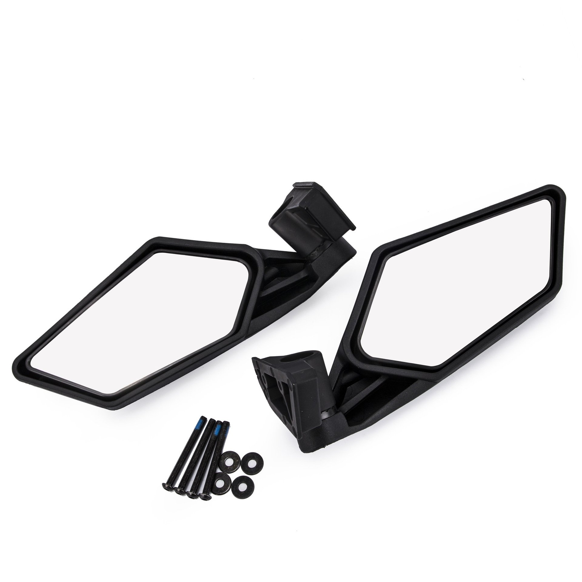 Ocamo 2 Pcs UTV Heavy Duty Rear View Mirror for UTV Polaris RZR Can Am Maverick X3 2017 2018