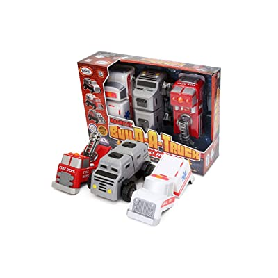 Popular Playthings Build A Truck: Fire & Rescue Standard: Toys & Games