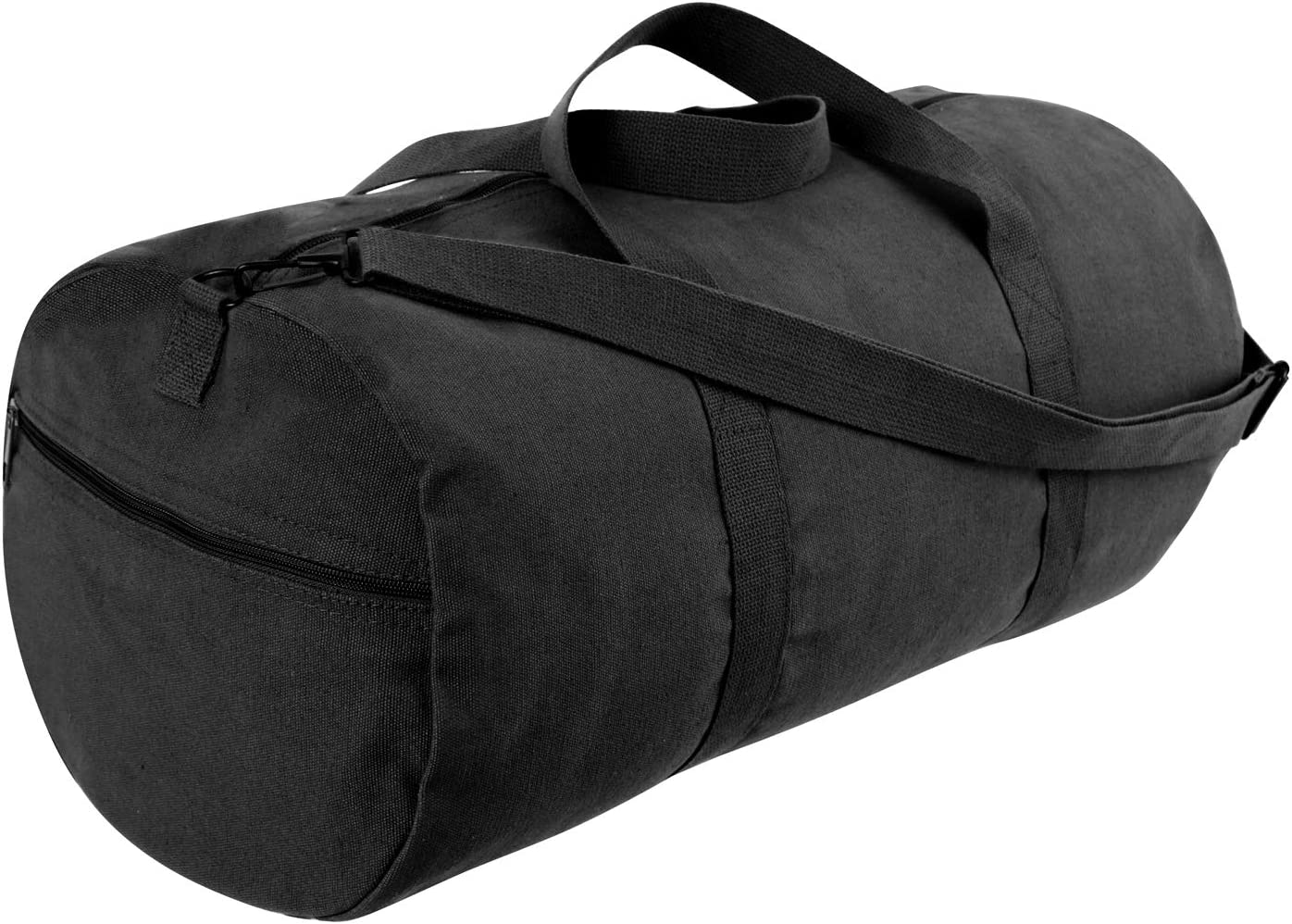 Rothco Canvas Shoulder Duffle Bag – 24 Inch, Black