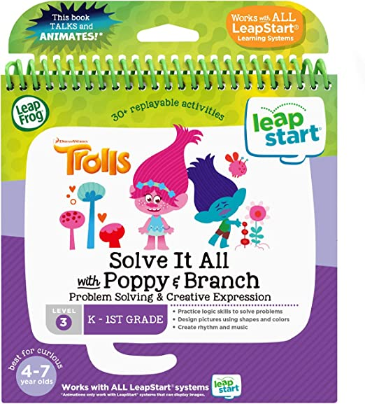 Amazon.com: LeapFrog LeapStart 3D Trolls Solve It All with Poppy & Branch Book, Level 3: Toys & Games
