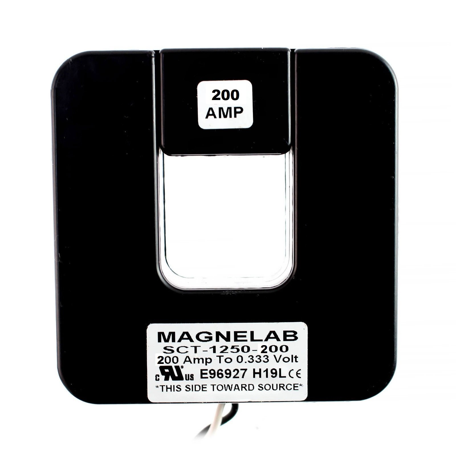 Magnelab SCT-1250-200 Split Core Current Transformer (CT) 1.25'' Id 0.333v Secondary (Output) 200 Amp Primary (Input)