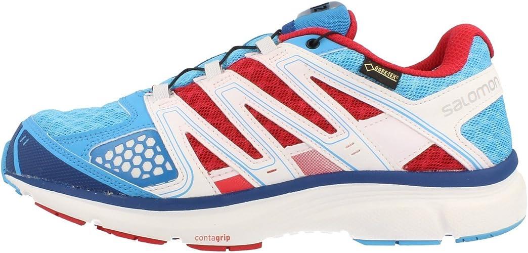 Salomon X CELERATE 2 GTX W Blau Weiss Rot Damen Trail Running Laufschuhe Goretex Neu