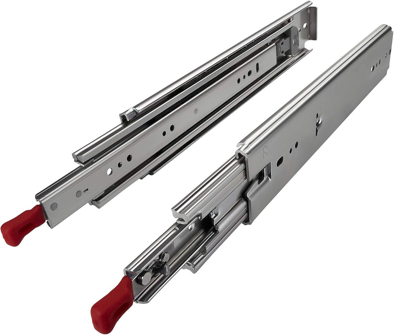 1 Paire Extensions pour Charge Lourde KV250H76L 762 mm 30 avec Lock-in//out Fonction Verrouillage Capacit/é de Charge jusqu/à 250 Kg Glissi/ère Tiroir Extension Totale Charge Lourde JUNKER