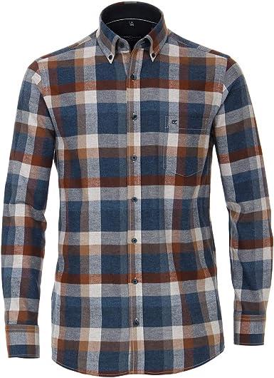 Casamoda Camisa de Franela Check Jeans Azul-marrón XXL: Amazon.es: Ropa y accesorios