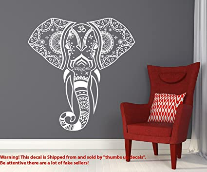 Indian Elephant Decals Hippie Mandala Wall Bedroom Om Symbol Sticker Bohemian Bedding Boho Decor For