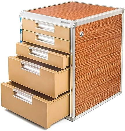 Cajoneras Gabinete del documento A4, cajón de la Mesa extraíble con Cerradura for el Organizador de la Oficina, aleación de Aluminio/Tablero de Grano de Madera/plástico (Size : C9832): Amazon.es: Hogar