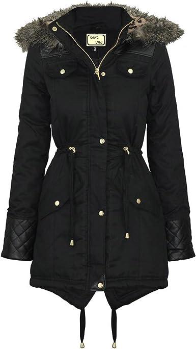 Womens 14 18 20 Faux Wool Black Coat Jacket Ladies New High Quality