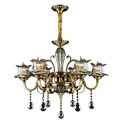 Amazon.com: Lámpara de techo de 6 luces, diseñadores, 110 ...