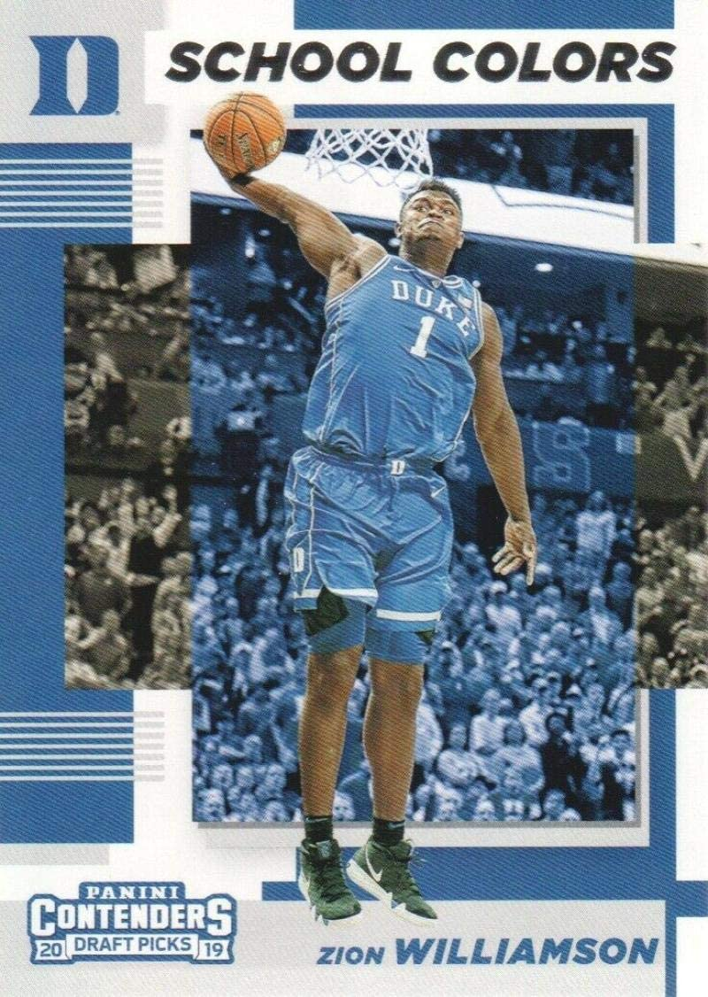 any streak on scan is NOT on the card 2019-20 Contenders Draft Picks Game Day Ticket #1 Zion Williamson Duke Blue Devils Official Panini NCAA Collegiate Basketball Card