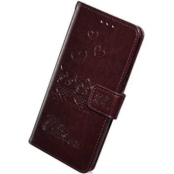Herbests Funda de Cuero compatible con Samsung Galaxy S8 ...