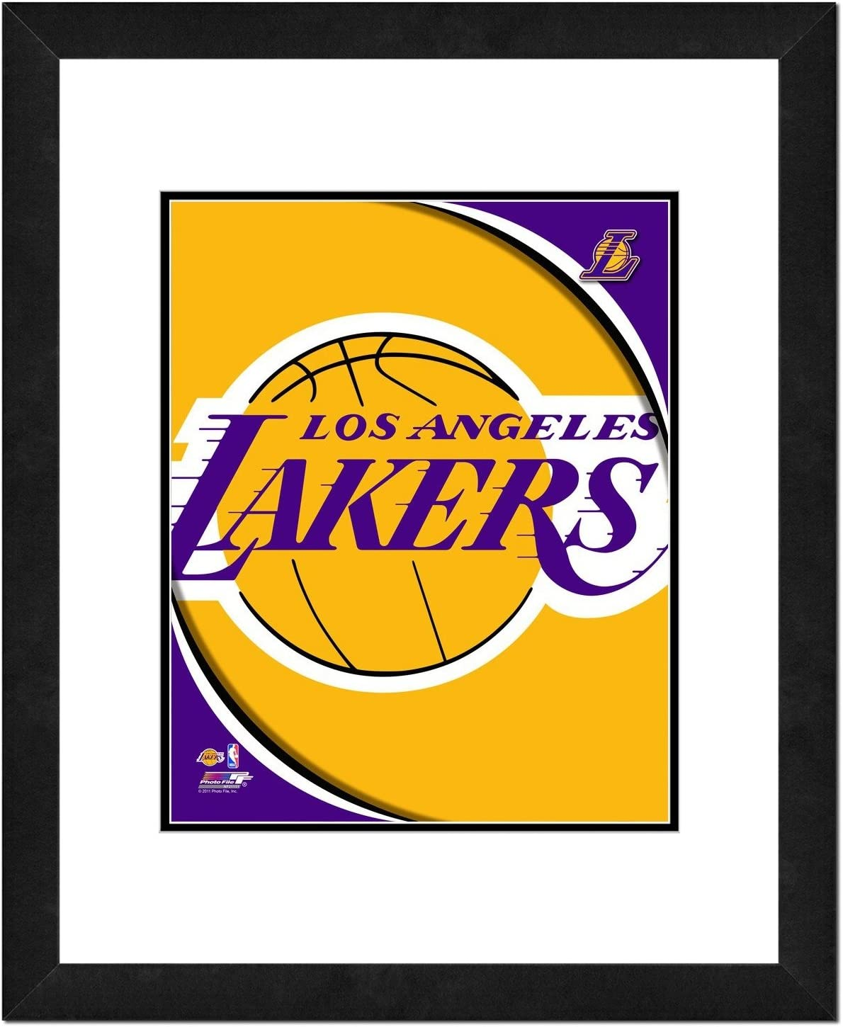 NBA Team Logo Double Matted /& Framed Photo