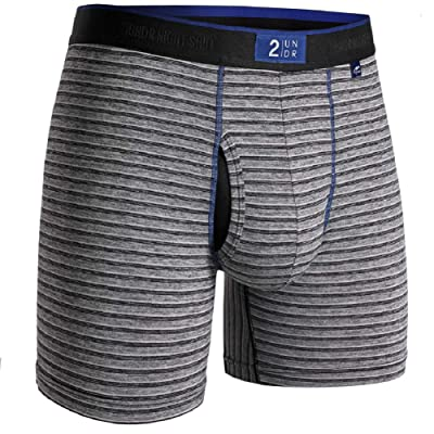 "2UNDR Mens Night Shift 6"" Boxer Brief Underwear at Men's Clothing store"