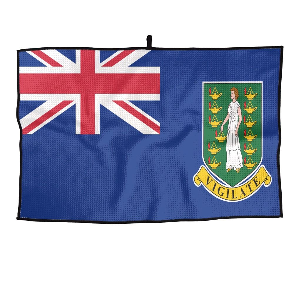Amazon.com : Jinyimingpi Flag Of The British Virgin Islands Golf Towel  Sports Microfiber 23x14 Inches Player Towel : Sports & Outdoors