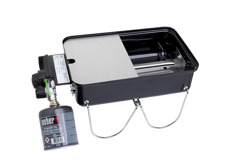 Dejlig Edelstahl Grillplatte, Griddle-Plate für Weber Go-Anywhere: Amazon LG-16