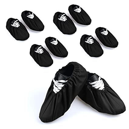 a36cd877b1d 5 Pairs Non Slip Washable Reusable Shoe Covers Cotton and Polyester For  Household Thickened Boot Covers