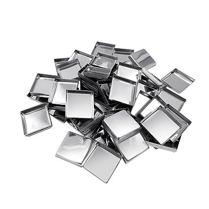 Allwon 56 Pack - Sartenes metálicas cuadradas vacías para la ...