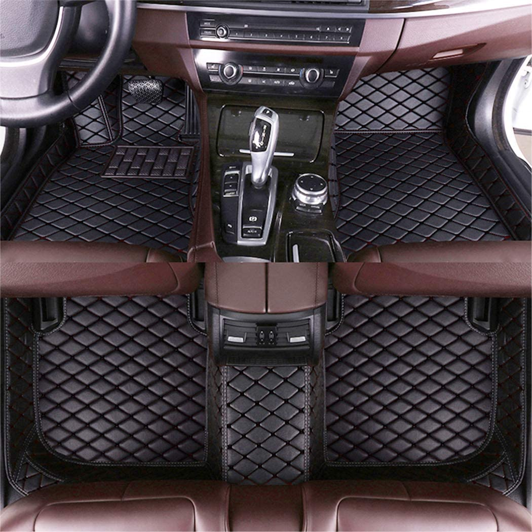 DBL Custom Car Floor Mats for Alfa Romeo Giulietta 2014-2016 Waterproof Non-Slip Leather Liners Automotive Carpets Interior Accessories Full Set (Black)