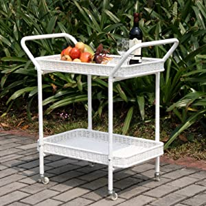 Jeco Outdoor Resin Wicker Serving Cart