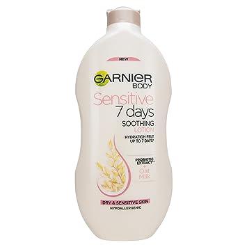 Garnier Garnier Sensitive - Loción corporal de leche de avena para 7 días, piel sensible, 400 ml x: Amazon.es: Belleza