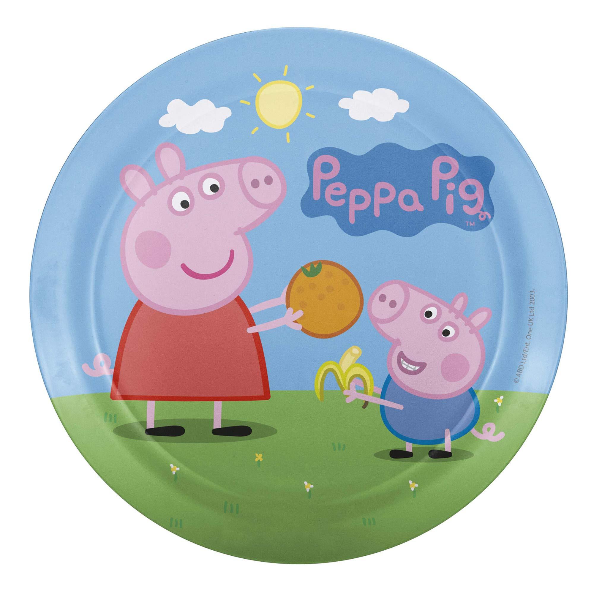 Nick Jr. PEPA-0391 Peppa Pig Melamine Plates 3-piece set by Zak Designs by Zak Designs (Image #3)
