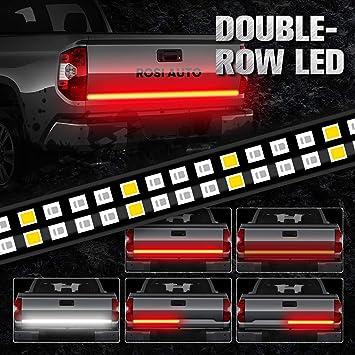 Rosi 6ft Tailgate Light Bar Double Row Led Light Strip 2835 264 Led Ip67 Waterproof Running Turn Signal Brake Reverse Light For Truck Pickup Trailer