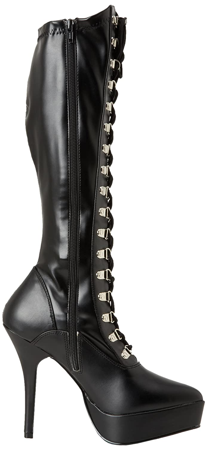 Pleaser Women's Indulge 2024 Knee-High Boot B000XUR38E 10 B(M) US|Black Polyurethane