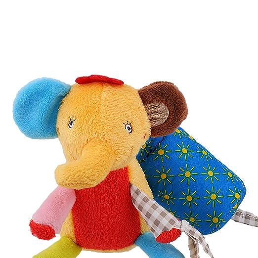 MagiDeal 2x Juguete Sonajero Niños Marioneta Campanillas Cuna Bebé Diseño Mono Elefante Accesorio Cochecito: Amazon.es: Juguetes y juegos