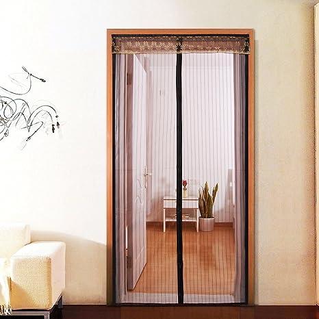 GLJY Puerta de malla magnética, cortina mosquitera Puerta con ...