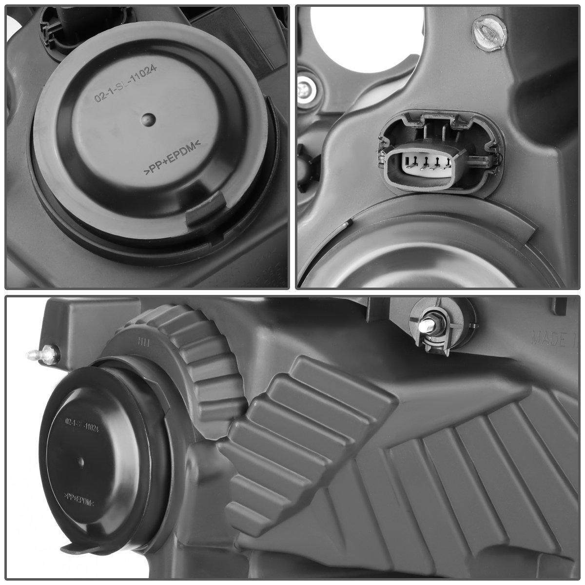 For 15-17 Ford F150 DNA Motoring HL-LB-F15015-CH-AM 3D LED Running DRL Headlight Chrome//Amber