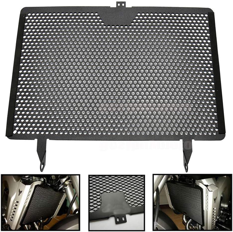 Cubierta negra para refrigerador de aceite de rejilla de radiador de motocicleta para MT-09 MT09 TRACER ABS 900 XSR900 FZ09 FJ09 MT FZ 09 plotter 900: Amazon.es: Coche y moto