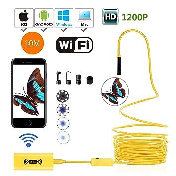 IOS WiFi Endoskopkamera 10M Schwanenhals Inspektionskamera Wasserdicht Android