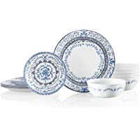 Corelle Signature Dinnerware Set, 18 Piece Set, Portofino
