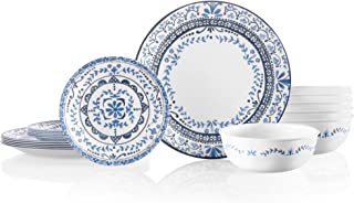product image for Corelle Service for 6 Chip Resistant Dinnerware Set, 18-Piece, Portofino