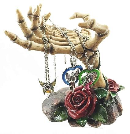 ad5de5b11 Amazon.com: Gothic Valentine Rose Skeletal Hands Skeleton Grasp of ...