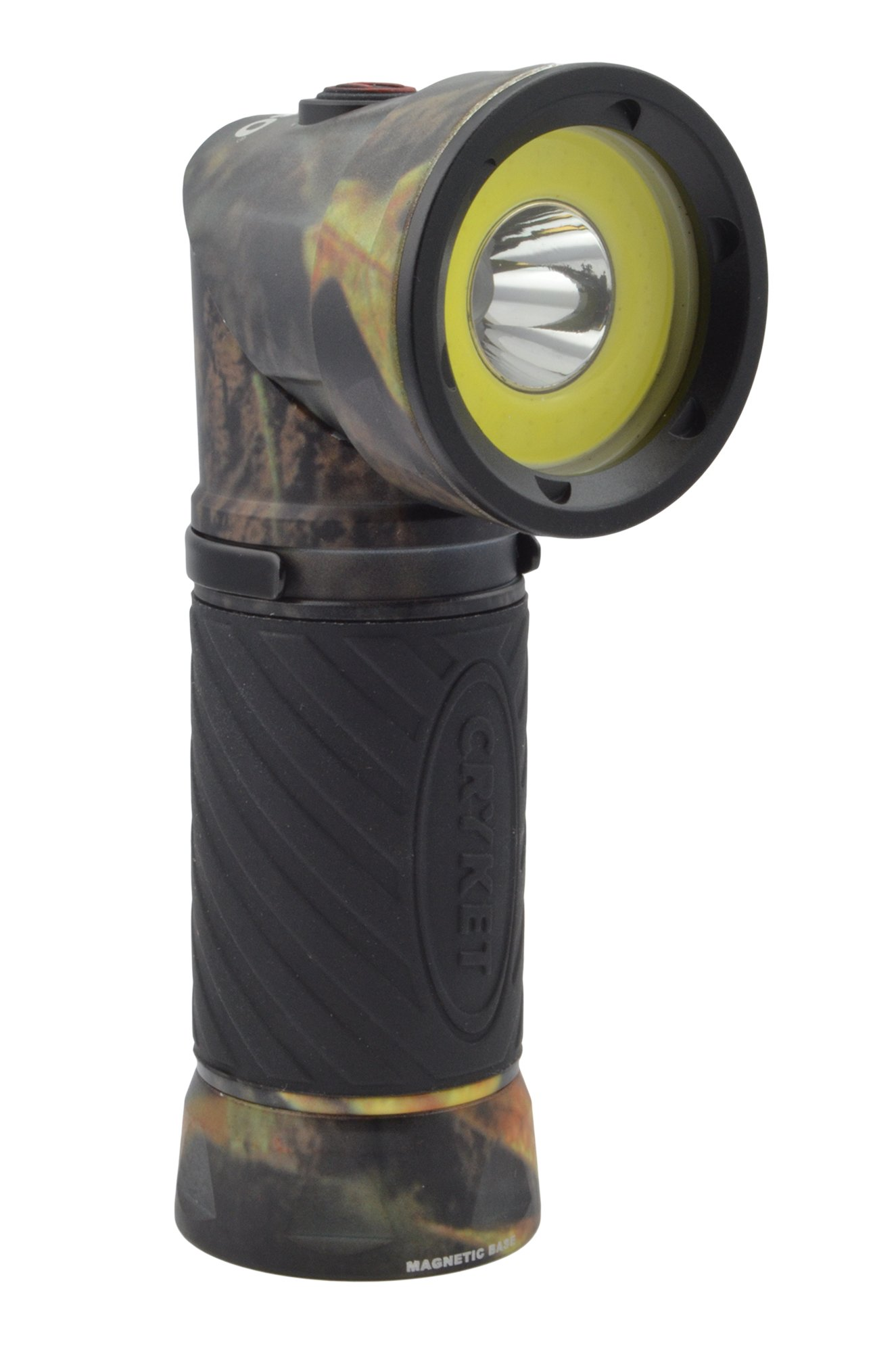 Nebo 6549 Cryket Camo 3-in-1 LED Flashlight/Work Light/Green LED with 8 Nebo AAA Batteries and Lumintrail Keychain Light by NEBO (Image #2)