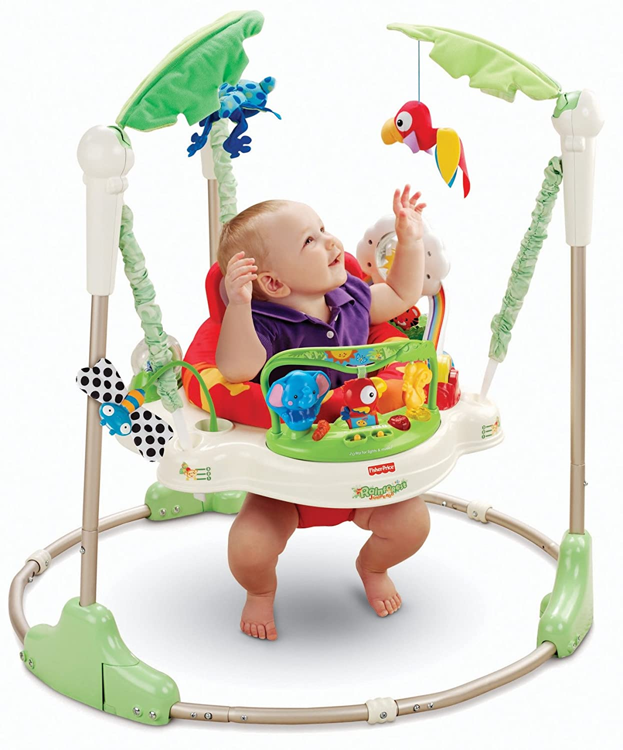 Baby einstein animal discovery cards toys amp games on popscreen - Amazon Com Fisher Price Rainforest Jumperoo Infant Bouncers And Rockers Baby