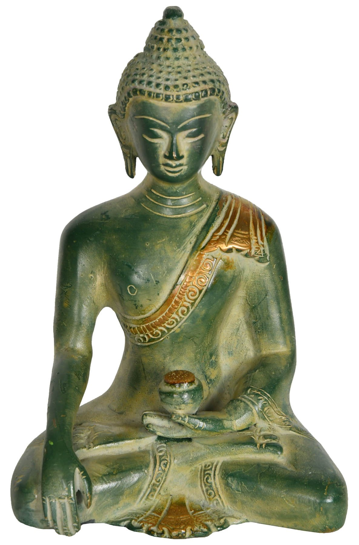 Exotic India Buddha Statue Brass