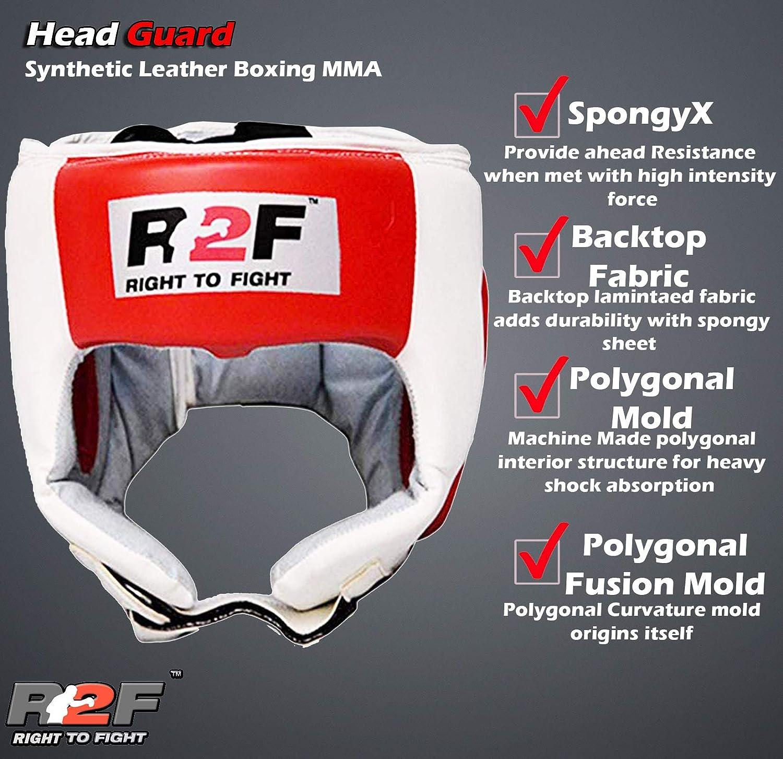R2F Head Guard Face Protector Helmet Kick Boxing MMA Martial Art Gear Training