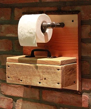 Toilettenpapierhalter WC Papier Rollenhalter Holz Box Fuer Feuchttuecher