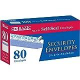 BAZIC #6 3/4 Self-Seal Security White Mailing Envelope, 3 5/8 x 6 1/2 Safe Quick Self-Adhesive Closure Tint Pattern, No…