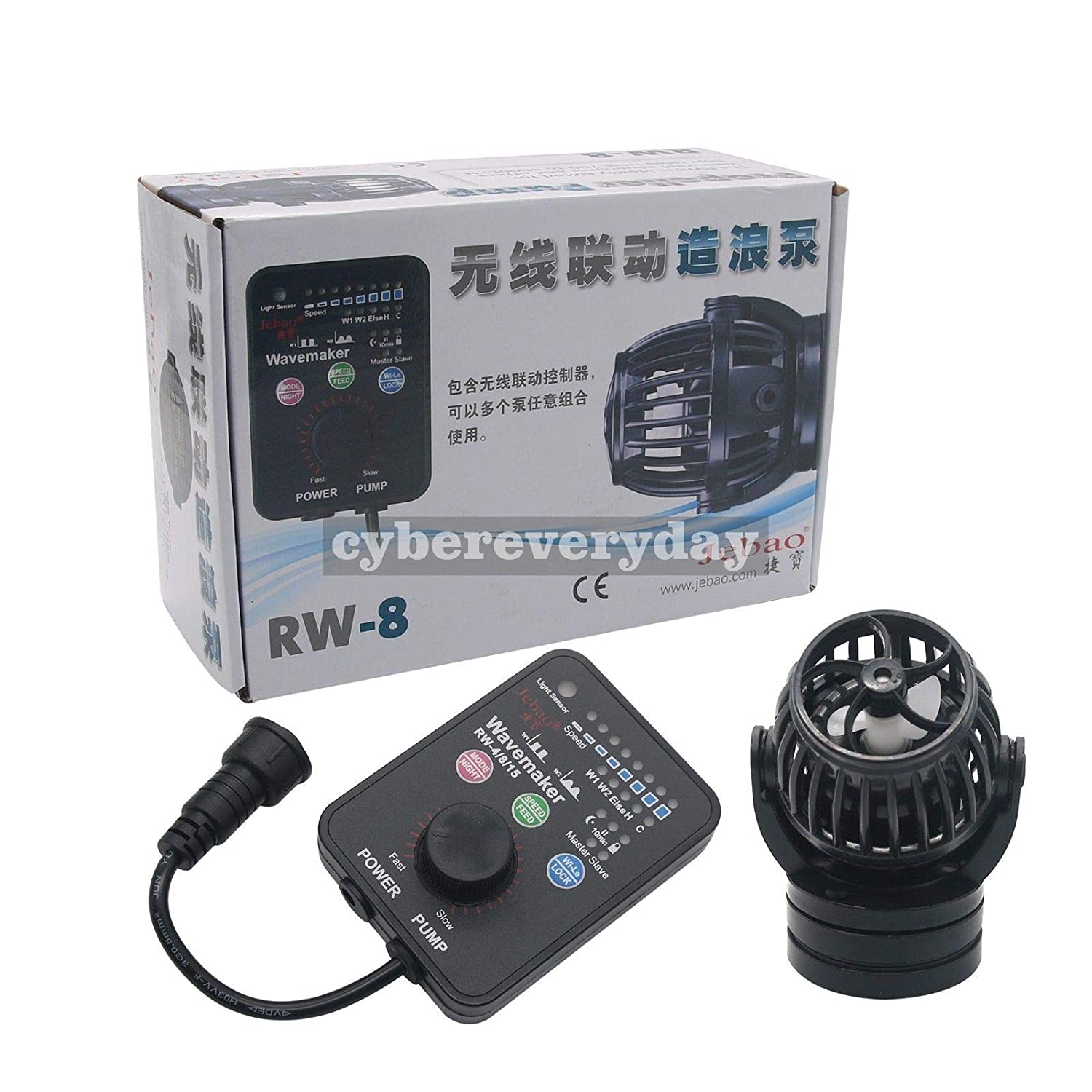 FidgetGear Jebao Jecod PP8 SW8 Wireless Wavemaker Aquarium Pump Controller RW-8 + New Mount