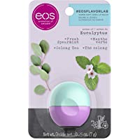 eos flavorlab Sphere Lip Balm - Eucalyptus - Deeply Hydrates and Seals in Moisture, Sustainably-Sourced Ingredients, 7g