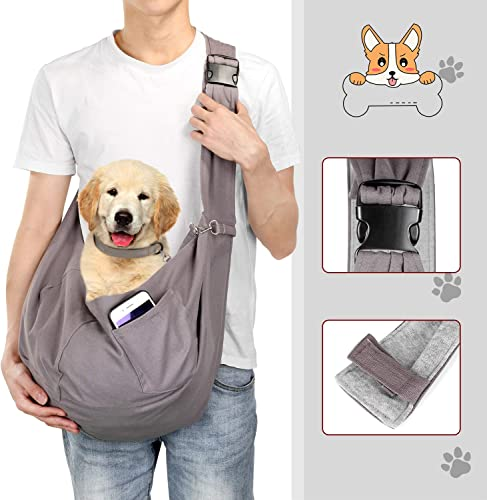 OWNPETS Pet Sling Carrier, Pet Sling Carrier Bag Safe,Fit 15 17lb Cats Dogs, Comfortable, Adjustable, Perfect for Daily Walk, Outdoor Activity and Weekend Adventure
